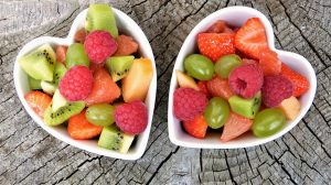 mỡ giảm béo salad trái cây lành mạnh