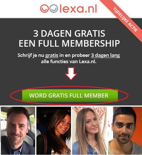 Lexa 3 Dagen Gratis Full Membership